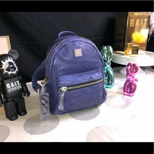 MCM SuperSoft Large Leather Purple Backpack
